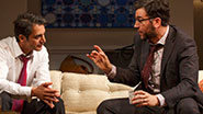 Hari Dhillon as Amir Kapoor and Josh Radnor as Isaac in 'Disgraced.'