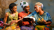 Pascale Armand as Bessie, Lupita Nyong'o as The Girl and Saycon Sengbloh as Helena in Eclipsed