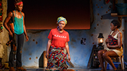Lupita Nyong'o as The Girl, Saycon Sengbloh as Helena and Pascale Armand as Bessie in Eclipsed