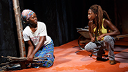 Lupita Nyong'o as The Girl and Zainab Jah as Miami in Eclipsed