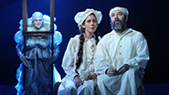 Danny Burstein as Tevye and Jessica Hecht as Golde in Fiddler On The Roof