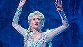 Caissie Levy as Elsa in 'Frozen'