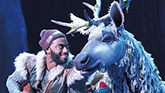 "Jelani Alladin as Kristoff & Andrew Pirozzi as Sven in ""Frozen'"