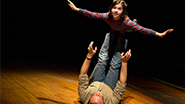 Michael Cerveris as Bruce Bechdel and Gabriella Pizzolo as Small Alison in Fun Home