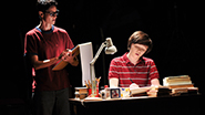 Beth Malone as Alison and Emily Skeggs as Medium Alison in Fun Home