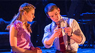 Celia Keenan-Bolger as Laura and Brian J. Smith as the Gentleman Caller in The Glass Menagerie.