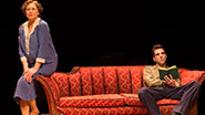 Cherry Jones as Amanda and Zachary Quinto as Tom in The Glass Menagerie.