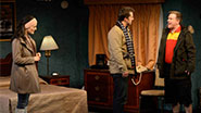 Charlotte Cohn as Ayelet, Jonathan Sale as Josh and Sheffield Chastain as Terrence in Handle with Care.