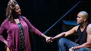Tonya Pinkins as Mrs. Weston & Christopher Jackson as Vertus in 'Holler If You Hear Me'