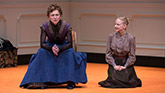 Julie White as Nora and Erin Wilhelmi as Emmy in A Doll's House Part 2.