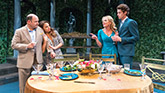 Jason Alexander as Barry, Aimee Carrero as Patty, Sherie Rene Scott as Atalanta and Pico Alexander as Freddie in The Portuguese Kid
