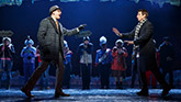 John Sanders as Ned and Andy Karl as Phil in Groundhog Day on Broadway.