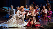 Marin Mazzie as Anna and Daniel Dae Kim as The King of Siam in The King and I
