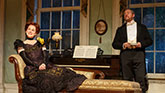 Laura Linney as Regina and Darren Goldstein as Oscar in The Little Foxes.