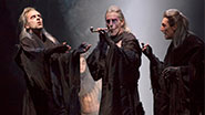 Malcolm Gets, John Glover & Byron Jennings as the Witches in Macbeth.