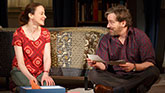 Maria Dizzia as Sharon Fischer and Jeremy Shamos as Michael Fischer in If I Forget on Broadway