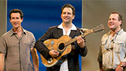 Aaron Lazar, Graham Rowat and Daniel Cooney in Mamma Mia!