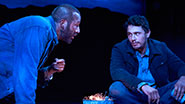 Chris O'Dowd as Lennie & James Franco as George in 'Of Mice and Men'