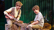 Sawyer Nunes as George Llewelyn Davis and Alex Dreier as Jack Llewelyn Davis in 'Finding Neverland'