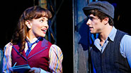 Kara Lindsay and Corey Cott in Newsies.