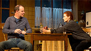 Brían F. O'Byrne as Anthony and Debra Messing as Rosemary in 'Outside Mullingar'