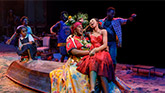 Alex Newell  as Asaka and Hailey Kilgore  as Ti Moune in Once On This Island Broadway