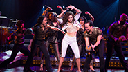 "Ana Villafañe as Gloria Estefan and the cast of ""On Your Feet'"