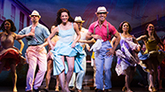 Ana Villafañe as Gloria Estefan and the cast of 'On Your Feet'