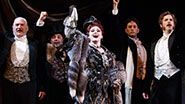 Tim Jerome as Firmin, Christian Šebek as Piangi, Michele McConnell as Carlotta, Kyle Barisich as Raoul, Jim Weitzer as André, Ellen Harvey as Madame Giry and Kara Klein as Meg Giry in Phantom of the Opera.