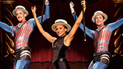 Carly Hughes as the Leading Player with Adam Roberts and Andrew Fitch  in 'Pippin'