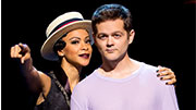 Carly Hughes as the Leading Player and Josh Kaufman as Pippin in 'Pippin'