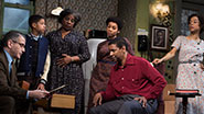 David Cromer as Karl Lindner, Bryce Clyde Jenkins as Travis Younger, LaTanya Richardson Jackson as Lena Younger, Anika Noni Rose as Beneatha Younger, Denzel Washington as Walter Younger & Sophie Okonedo as Ruth Younger in 'A Raisin in the Sun'
