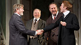 Richard Thomas as Horace. Michael Mckean as Ben, Darren Goldstein as Oscar and Michael Benz as Leo in The Little Foxes.