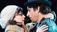 Margo Seibert as Adrian and Andy Karl as Rocky Balboa in Rocky.