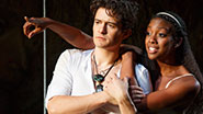 Orlando Bloom and Condola Rashad in Romeo and Juliet.