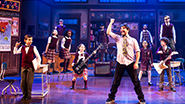 Alex Brightman as Dewey and the cast of School of Rock