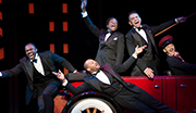 Joshua Henry as Noble Sissle, Brandon Victor Dixon as Eubie Blake, Billy Porter as Aubrey Lyles, Brian Stokes Mitchell as F.E. Miller and Richard Riaz Yoder in Shuffle Along.