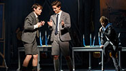 Daniel Durant as Moritz, Austin McKenzie as Melchior and Alex Boniello as Moritz in Spring Awakening