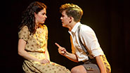 Sandra Mae Frank as Wendla and Austin McKenzie as Melchior in Spring Awakening