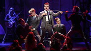 Austin McKenzie and the cast of Spring Awakening