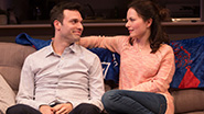 Jake Epstein as Ben and Jenna Gavigan as Emily in Straight
