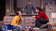 Thomas E. Sullivan as Chris, Jake Epstein as Ben and Jenna Gavigan as Emily in Straight