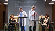 Susannah Flood as Connie Hall, George Demas as Lab Tech, Kati Brazda as Dr. Lorna James & Carter Hudson as Tristan Frey in The Effect