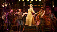 Leslie Kritzer as Salome and cast in The Robber Bridegroom