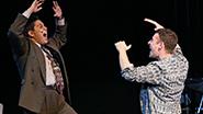 George Salazar as Michael, Nick Blaemire as John in Tick, Tick... BOOM!