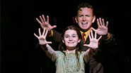 Emerson Steele as Young Violet and Ben Davis as the Preacher in 'Violet'