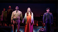 Joshua Henry as Flick, Sutton Foster as Violet & Colin Donnell as Monty in 'Violet'