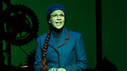 Lindsay Mendez in Wicked.