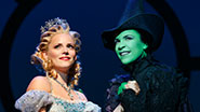 Katie Rose Clarke and Lindsay Mendez in Wicked.