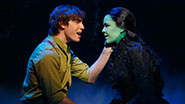 Derek Klena and Lindsay Mendez in Wicked.